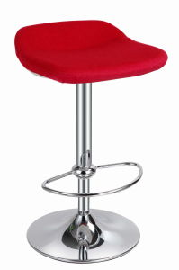 Upholstery Counter High Barstool with Moulded Cushion pictures & photos