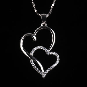 Romatic Love Fashion Heart to Heart Shape Jewelry Necklace pictures & photos