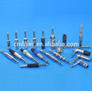 Metal Spring 6.35mm Phone Jack Connector with Gold Plated Terminals pictures & photos