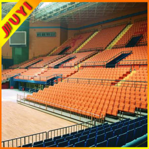China CE Electrical Indoor Sporting Retractable Grandstand Chairs with Hardwood Armrest Wholesale Telescopic Tribune pictures & photos