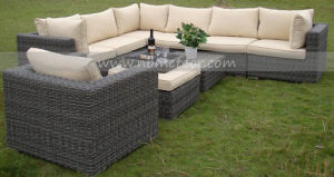 Wicker Outdoor Furniture Rattan Sofa Set (MTC-101) pictures & photos