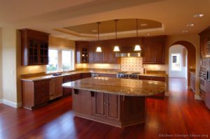 Dark Cherry Kitchen Cabinets (DC2) pictures & photos