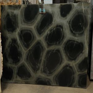 Imported Natural Black Marble Slab Glacial Eyes with Aesthetic Surface pictures & photos
