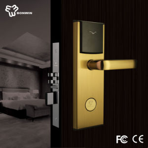 Waterproof and Anti-Fire Smart Card Electronic Door Lock pictures & photos
