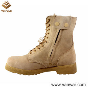 Comfortable Button Closure Military Desert Boots (WDB032) pictures & photos