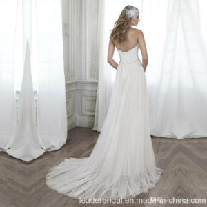 Beach Wedding Gown Chiffon Lace Empire Wedding Dress W171954 pictures & photos