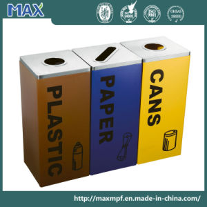 Logo Printing Three Containers Restricting Opening Waste Bin pictures & photos