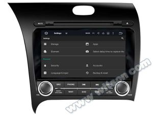 Witson Android 5.1 Car DVD GPS for KIA Cerato 2013with Chipset 1080P 16g ROM WiFi 3G Internet DVR Support (A5509) pictures & photos