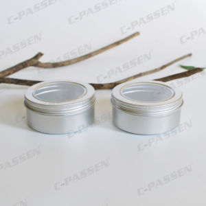 150g Aluminum Cosmetic Cream Jar with Window Lid pictures & photos