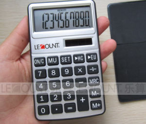 8 Digits Dual Power Pocket Calculator with Black Wallet Cover (LC303B) pictures & photos