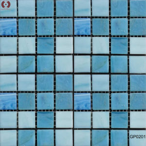 Swimming Pool Ceramic Glass Crystal Mosaic Tile (GP-0201) pictures & photos
