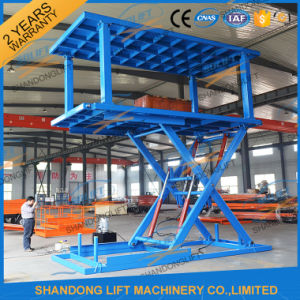 2017 Hot Sale Ce Certificated Double Scissor Car Lift in Floor pictures & photos