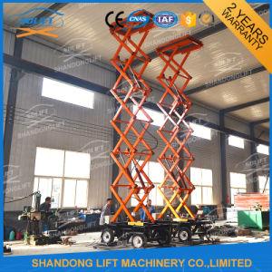 Elevated Aerial Work Platform Scissor Suspended Platform with Wheels pictures & photos