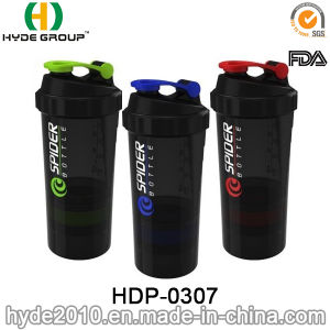 500ml Customized Plastic Protein Powder Shaker Bottle (HDP-0307) pictures & photos