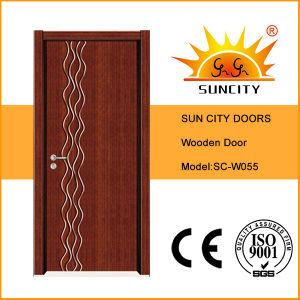 Low Price Interior Veneer Painting Wooden Room Doors (SC-W055) pictures & photos