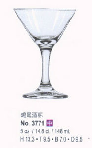 High Quality Tempered Glass Cocktail Glass (F3771) pictures & photos