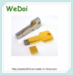 High Quality Golden Key Shape USB Flash Drive (WY-M57) pictures & photos