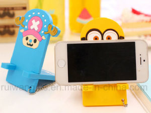 New PVC Rubber Cartoon Mobile Phone Holder for Mobile Stand pictures & photos