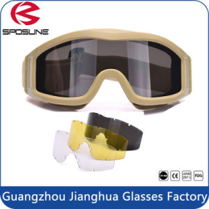 Ce En 166 UV400 Ballistic 2.5mm Airsoft Tactical Military Goggles pictures & photos
