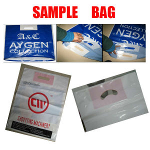 Full-Auto Inside Glue Patch Plastic Handle Carry Bag Making Machine pictures & photos
