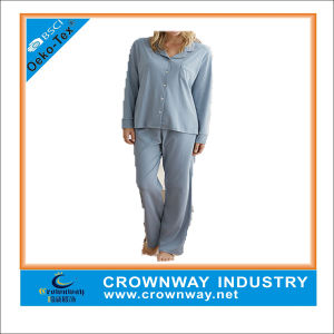 100% Cotton Soft Handfeeling Lady Pajama Set pictures & photos