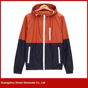 Wholesale Fashionable Men′s Cheap Hoodie Windbreaker Jacket (J131) pictures & photos