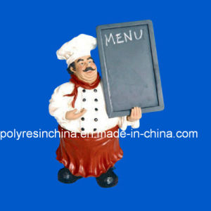 Polyresin Chef Statue with Menu Board pictures & photos