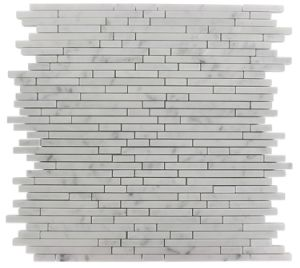 Carrara White Marble Strips Tiles pictures & photos
