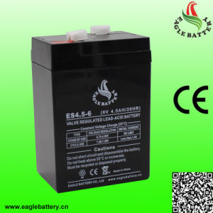 6V 4.5ah VRLA Rechargeable Sealed Lead-Acid Battery pictures & photos