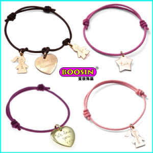 2015 New Fashion Cheap Custom Alloy Charm Colorful Rope Bracelet pictures & photos