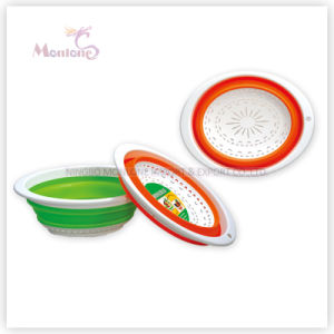 30*23*11cm Collapsible Plastic Basket Fruit/Vegetable Storage Strainer Colander pictures & photos