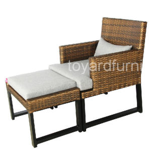 High Quality Hotel Aluminum Rattan Wicker Restaurant Chair pictures & photos