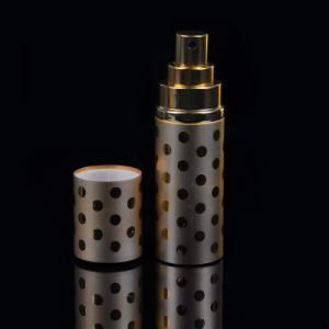 Portable Empty Perfume Cyllinder Bottle Refillable Spray Atomizers Brown pictures & photos