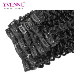 Brazilian Curly Human Hair Clip in Extensions pictures & photos