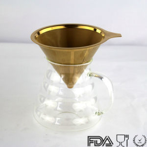 Paperless Pour Over Coffee Dripper-Stainless Steel Reusable Coffee Filter pictures & photos