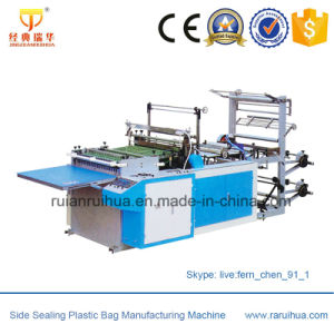 Full Automatic Plastic T Shirt Shopping Bag Making Machine pictures & photos