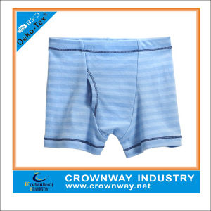 Promotional Yarn Dye Striped Cotton Kids Underwear for Wholesale pictures & photos