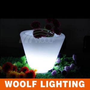 Cheap Plastic Commercial LED Light Flower Pots pictures & photos