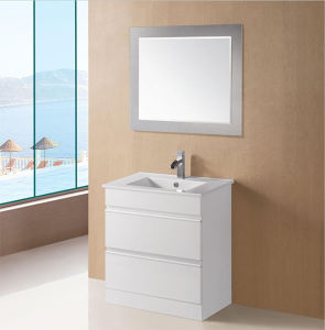 White Gloss MDF Bathroom Vanity with Soft Close (ZARA-600) pictures & photos
