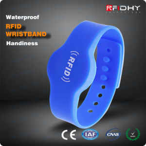 Adjustable Extremely Comfortable RFID Silicone Wristbands Watch for Exhibitions pictures & photos