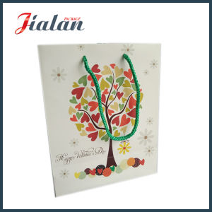 Logo Printed Cheap Price Custom Made Glitter Matte Paper Bag pictures & photos