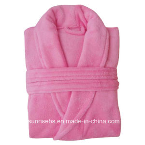 Comfortable Coral Fleece Bathrobe for Hotel pictures & photos