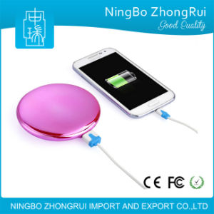 Real 4000 mAh Portable Cute External Battery USB Charger Power Bank Universal with Cosmetic Mirror pictures & photos