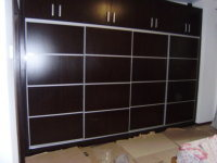 Red Oak Solid Wood Wardrobe Cabinets pictures & photos