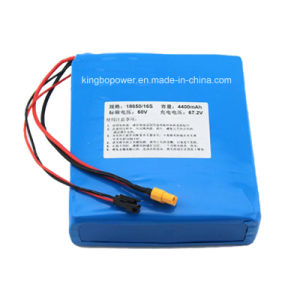 60V Rechargeable Lithium Ion Cell Battery Pack (4400mAh) pictures & photos