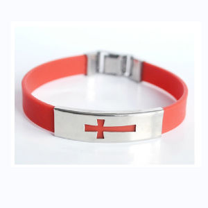 Customized Silicone Bracelet with Stainless Steel Clasp pictures & photos