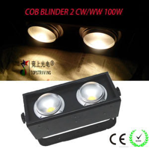Blinder! COB LED Blinder 2 Warm White and Cold White Two in One 100W Stage Lighting
