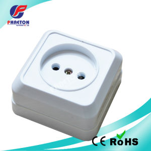 European Style Surface Mounted 2 Pin Wall Socket pictures & photos