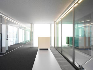 Tempered Office Partition Glass Walls with AS/NZS2208: 1996, BS6206, En12150 Certificate pictures & photos