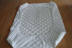 Quilted Mattress Protector with Skirt pictures & photos